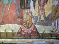 Christ's crucified feet after