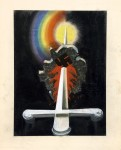 Sword piercing Germany by unknown artist