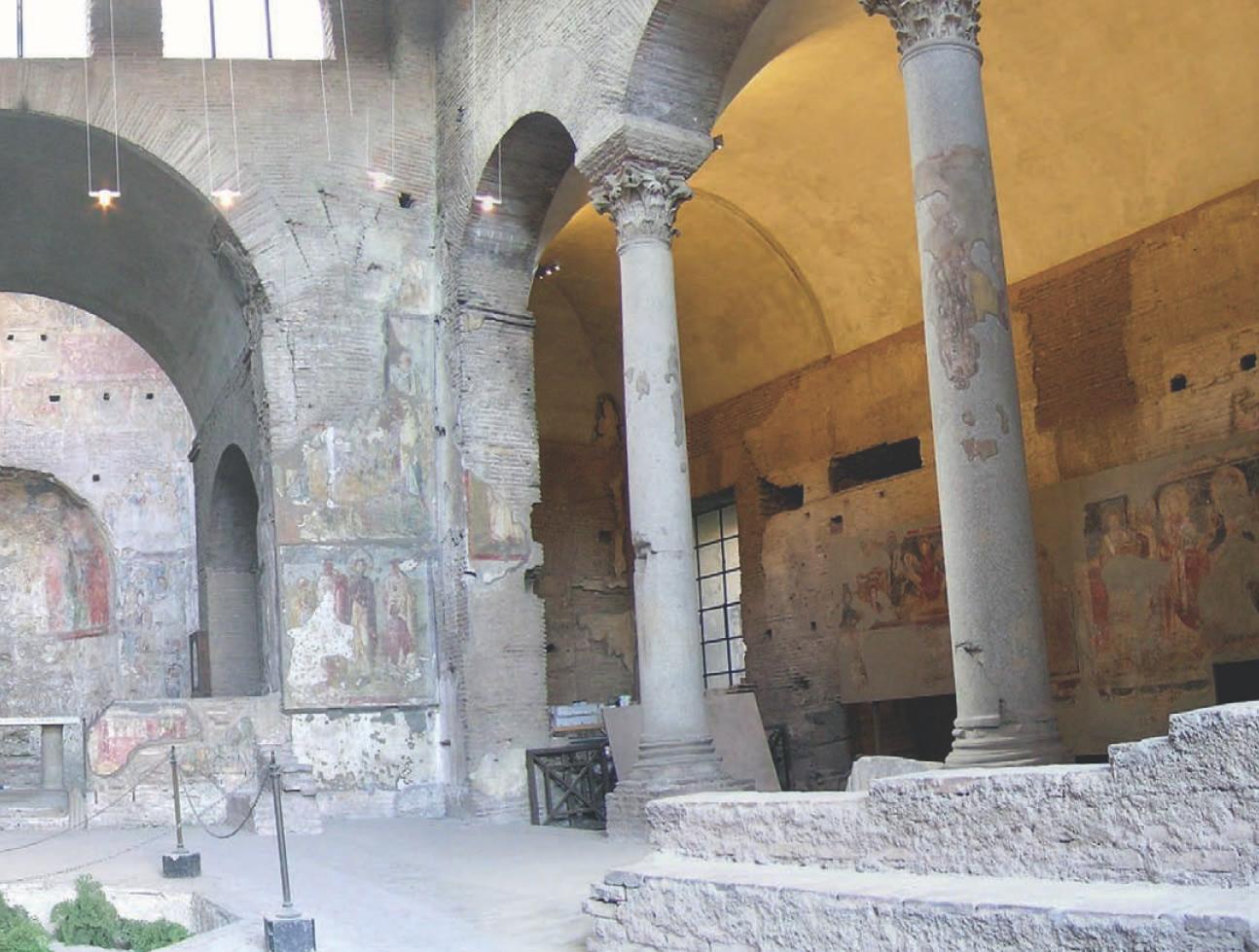 (The other is Santi Cosma e Damiano, built a few decades before Santa Maria.