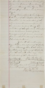 Second page of Sitting Bull's contract with Buffalo Bill