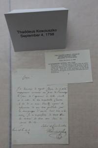 Thaddeus Kosciuszko letter
