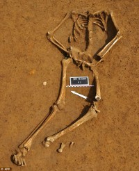 Skeleton found in shallow grave on the field of Waterloo