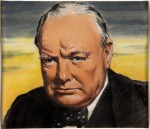 Portrait of Winston Churchill by William Timym