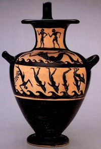 Dionysus kalpis, attributed to the Micali Painter, 510-500 B.C.