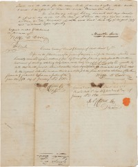 Land indenture documented signed by Meriwether Lewis, William Clark