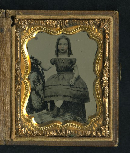 Ambrotype of unidentified girl found between the bodies of a Confederate and Union soldier