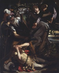 """The Conversion of Saul"" by Caravaggio, ca. 1600"