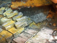 Silver bars found on the Gairsoppa wreck
