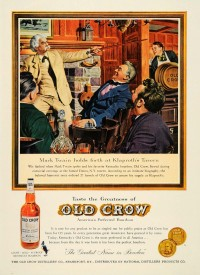 Mark Twain in a 1960 Old Crow ad