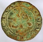 Copper coin found at Hernando De Soto encampment, late 15th century