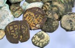 Spanish coins found at the mission site