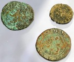 Three coins found at Hernando De Soto encampment