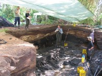 Excavation pit at the Alken Enge wetlands