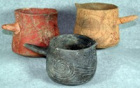 Cahokia ceramic vessels with black drink residue within