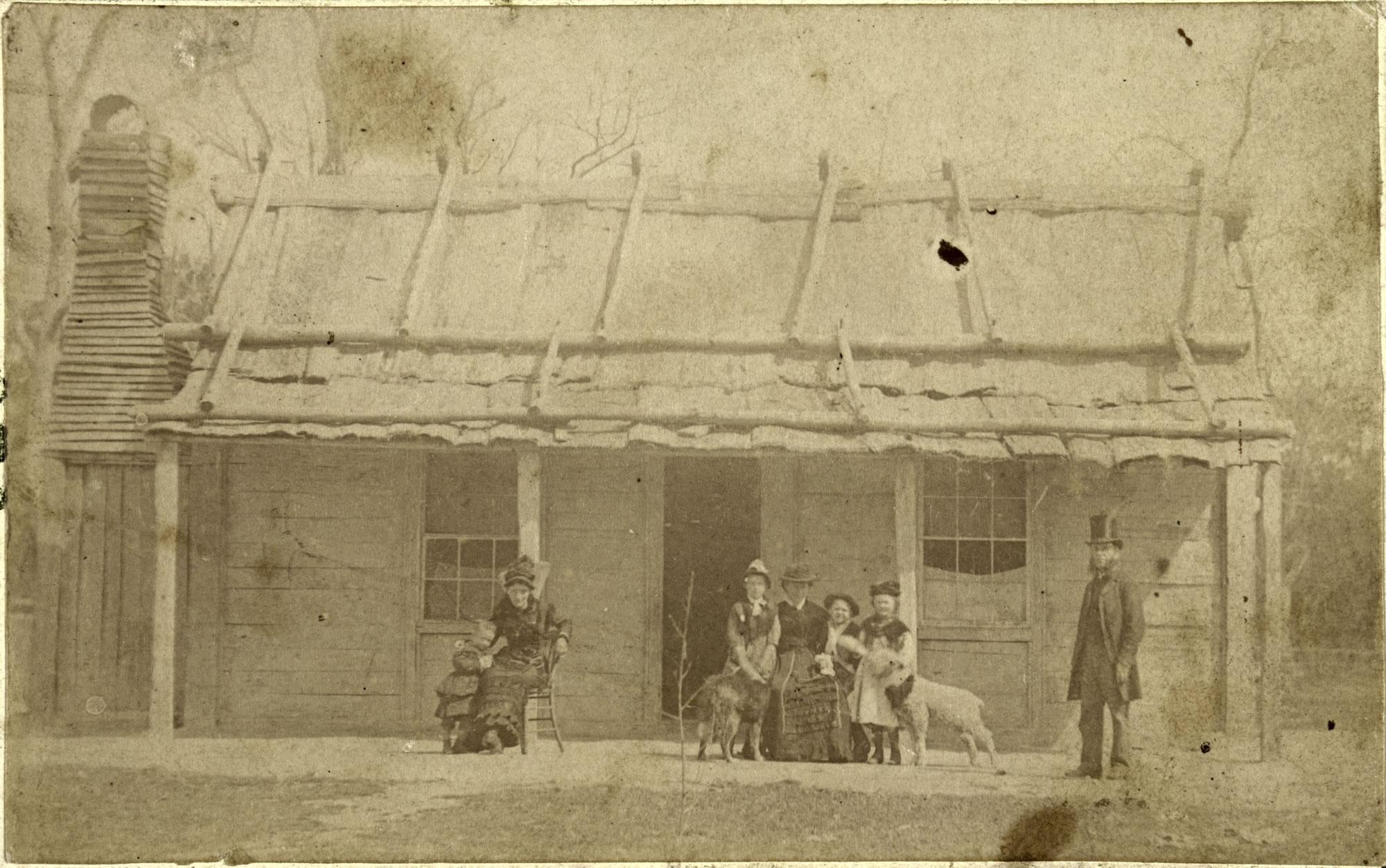 the history blog  ellen kelly third from the left seated at the family homestead after her