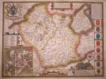 John Speede map of Leicester county and city, 1616