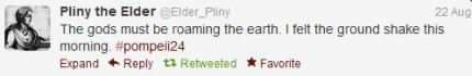 Pliny the Elder's first tweet