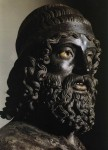 Riace A head detail