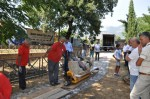 Sarcophagus arrives in Aquino