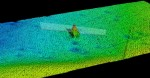 Computer rendering of sonar data showing the Terra Nova