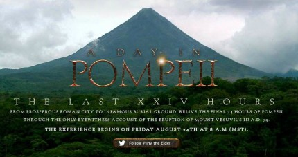 Click to follow Pompeii&#039;s last XXIV hours!