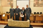 Sarcophagus at press conference in Rome