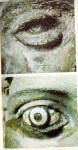 Eye of Riace B before and after the final removal of eye concretions