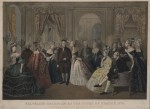 Franklin's Reception at the Court of France, March 1778, by Anton Hohenstein ca. 1823