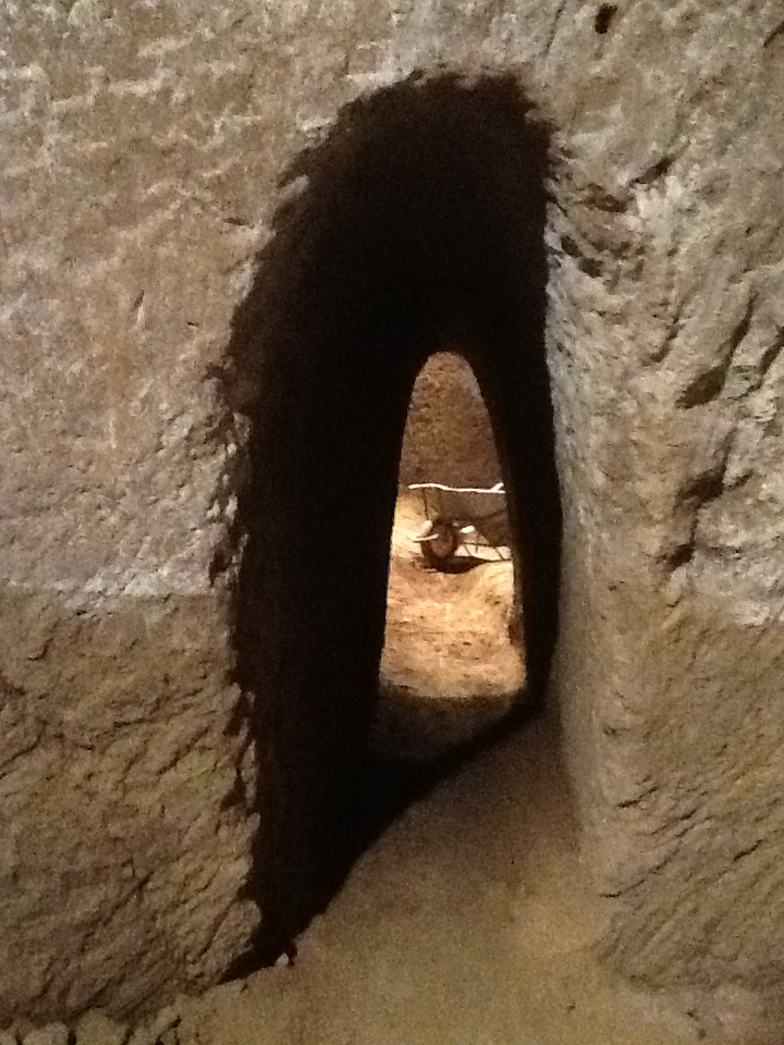 Tunnel between pyramids one and two