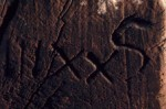 Carpenter's mark on timber