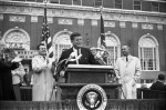 JFK speaking outside Hotel Texas the morning of November 22nd, 1963
