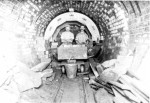 Sewer workers in Moss Lane East tunnel, August 20, 1912