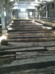 Ship timbers under the Wheelwright's Shop