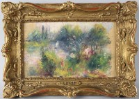 """Paysage Bords de Seine"" by Pierre-Auguste Renoir"