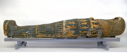 Restored coffin