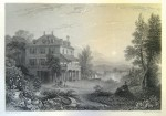 Villa Diodati with Byron figure in foreground, engraving by Edward Finden, 1832