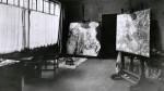 Klimt's workroom by Moritz Nähr 1917-18