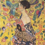 """Lady with Fan"" by Gustav Klimt, 1917-18"