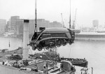 Dominion of Canada lifted onto MV Beaverbrook at Royal Victoria Dock, Liverpool, April 10, 1967