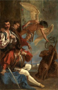 """""""Anteros Pleads with Atropos"""" by Sebastiano Ricci, late 17th, early 18th century"""