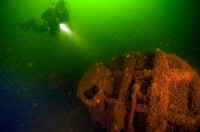 Diver observes World War II U-boat off the coast of Boltenhagen