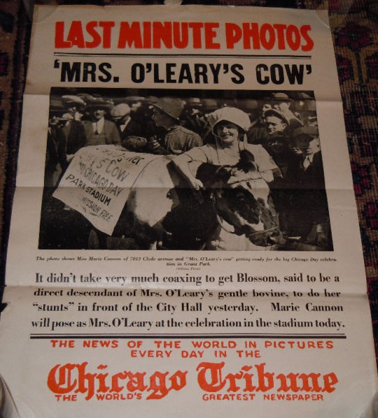 1924 chicago day celebration featuring descendant of mrs o leary s