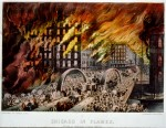 &quot;Chicago in Flames,&quot; Currier &amp; Ives lithograph