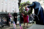 DAR lay wreath at Trinity Church