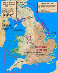 End of Roman rule in Britain 383-410