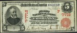 First National Bank of Fairbanks $5 bill, Serial Number 1, front