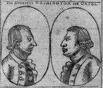"""The Glorious Gates and Washington"" on the cover of Bickerstaff's Boston Almanack, 1778"