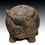 Majapahit piggy bank, front