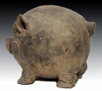 Majapahit piggy bank, side