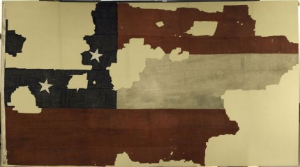 Marshall House Flag on display at New York State Museum in Albany